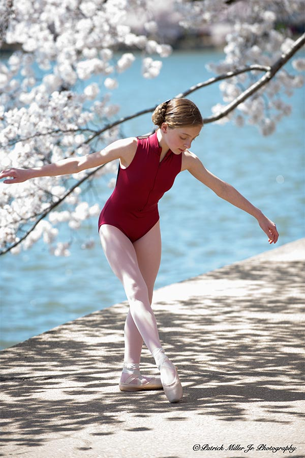 Ballet portrait at the Tidal Basin during Cherry Blossoms Festival Washington, DC