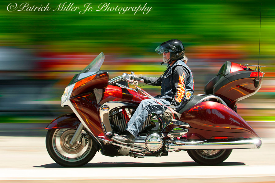 Biker during Rolling Thunder annual event