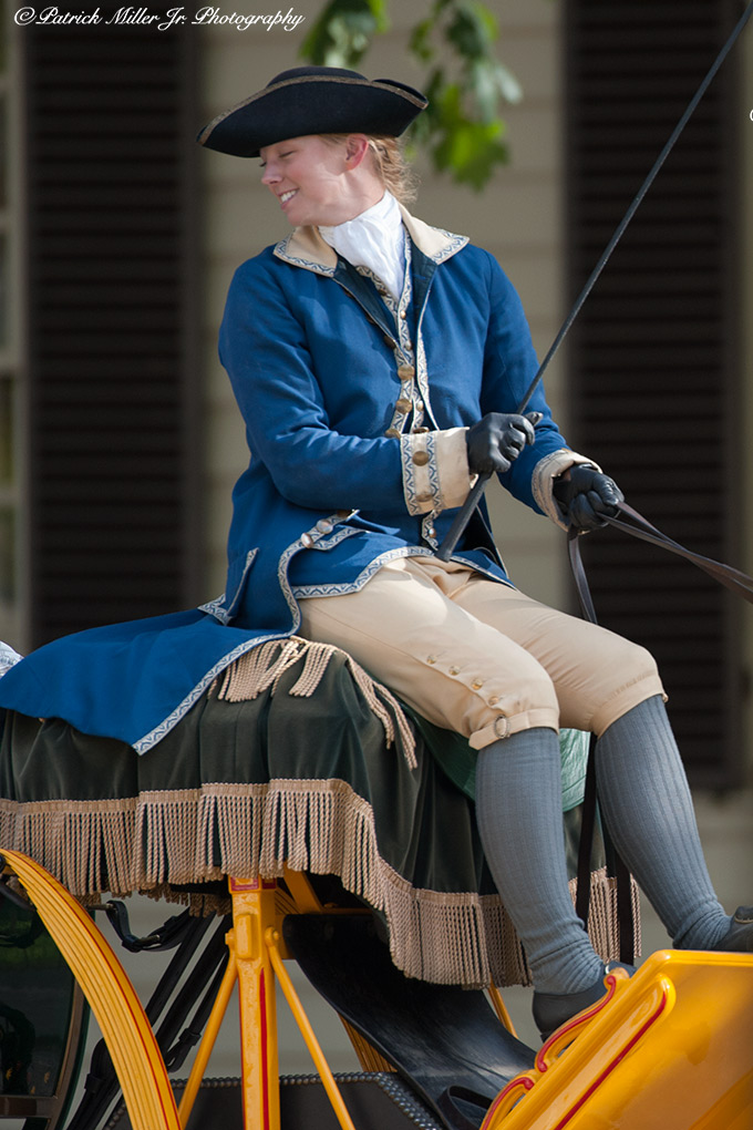 Reenactment of life in Colonial Williamsburg Virginia