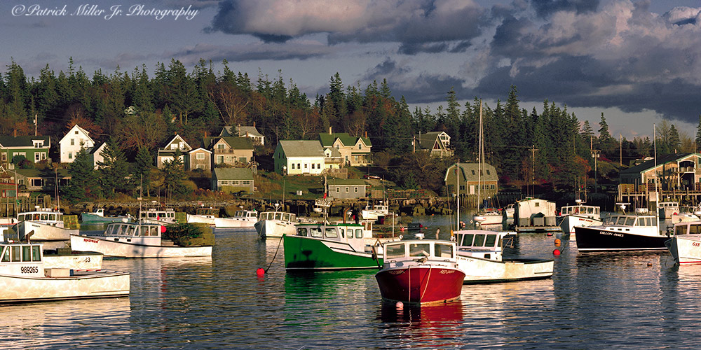 Cavers Harbor located on Vinalhaven Island over 450 lobster boats occupy this island
