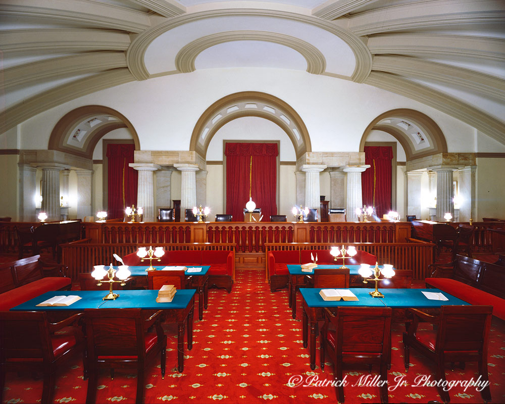 Old Supreme Courtroom Chamber located in the North Wing of the United States Capitol Washington DC