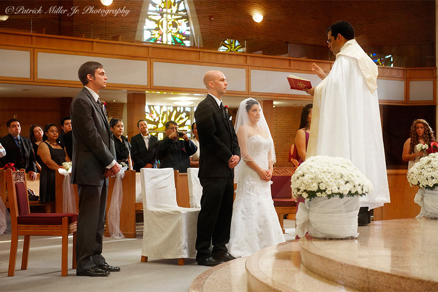 Bride Groom at Alter Virginia