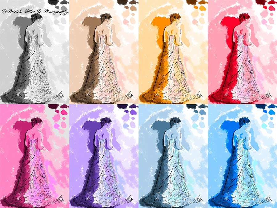Colorful Bride Pattern Virginia