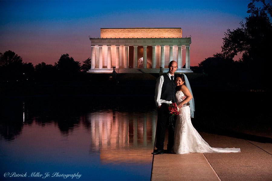 Wedding Portrait Lincoln Memorial DC