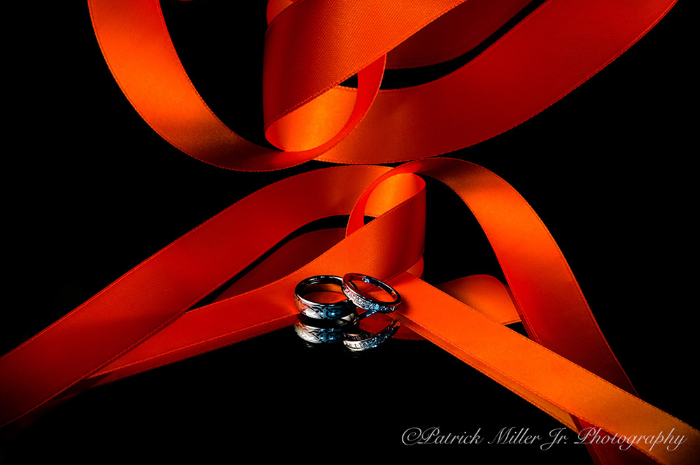 Product Photography Wedding Rings Ribbons DC