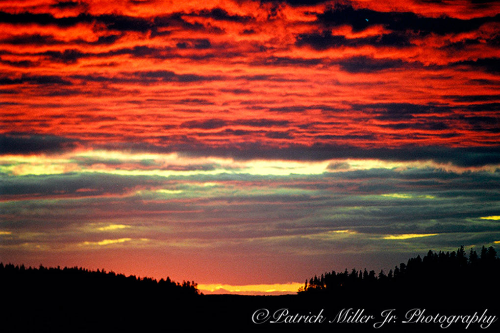 Dramatic East Coast sunset, Vinalhaven Maine