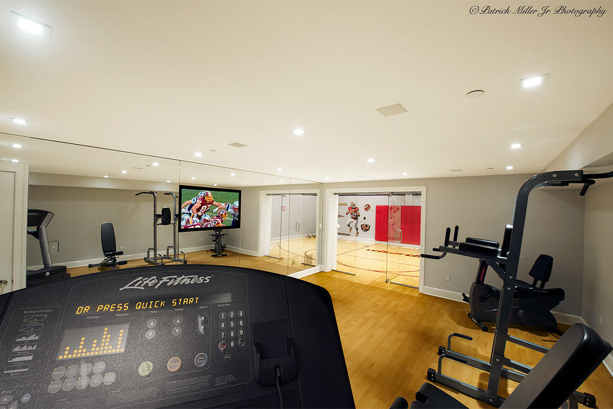 Commercial Interior Architecture Home Gym Interior Georgetown, DC