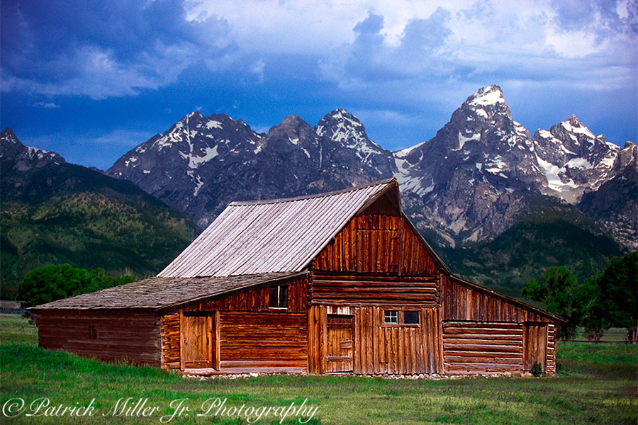 Historic Moulton Barn at the base of the of the Grand Tetons WY, MT