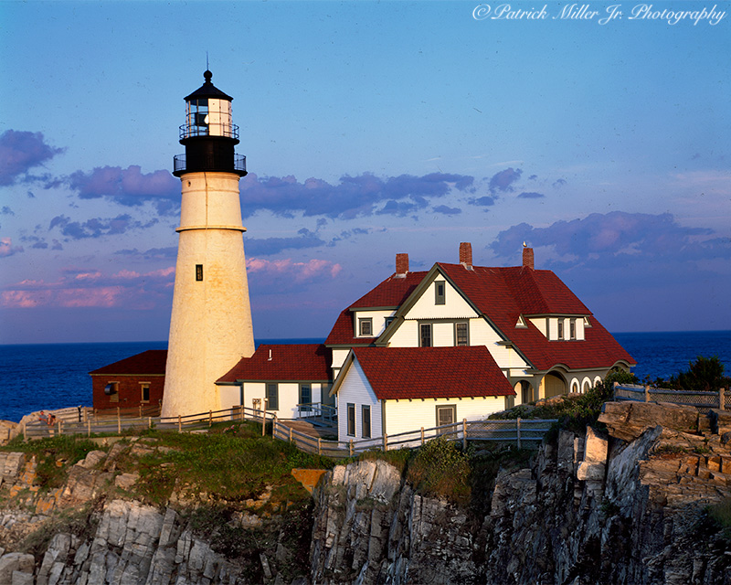 Portland Head Lighthouse located in Cape Elizabeth Maine