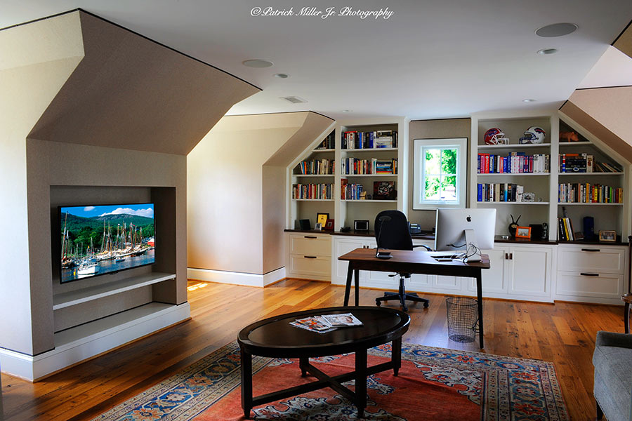 Home Office Mount Vernon Interior, VA. Commercial Interior Architecture
