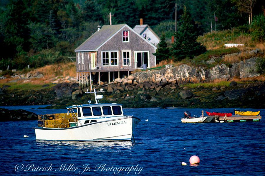 """""""Vanhalla"""" Lobster Boat Maine"""