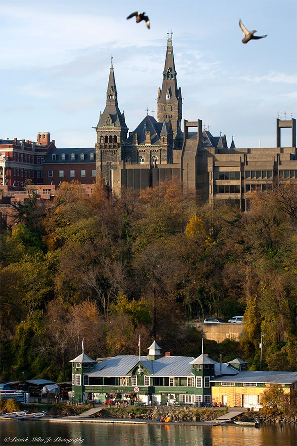 Georgetown University autumn Washington, DC