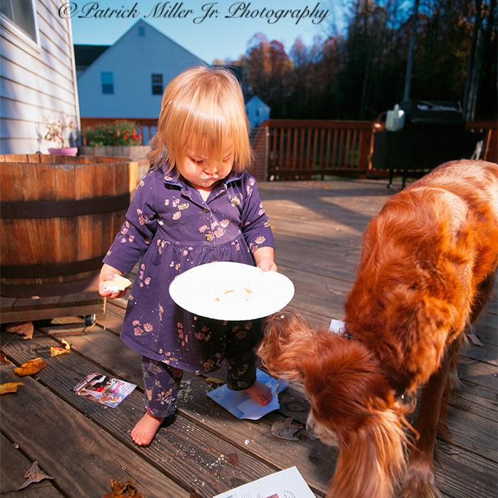Little Girl Drops Birthday Cake