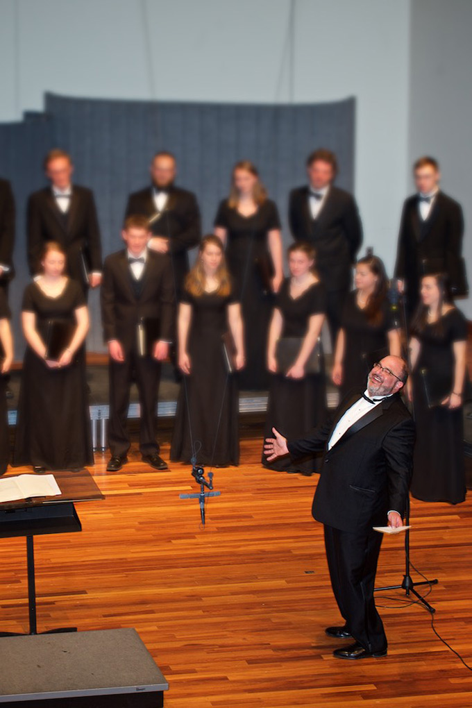 Choir and brass band conductor overjoyed American University Washington, DC