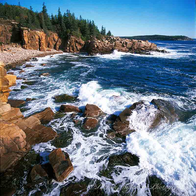 Acadia National Park rocky shoreline, Maine