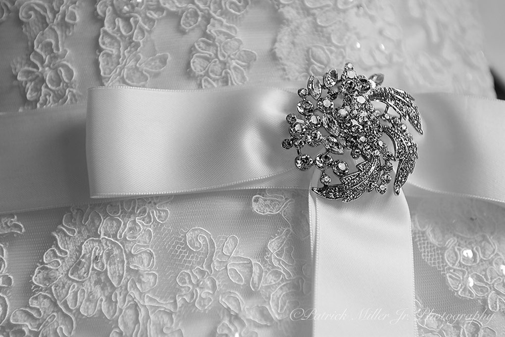 Product Photography Close up of white ribbon package