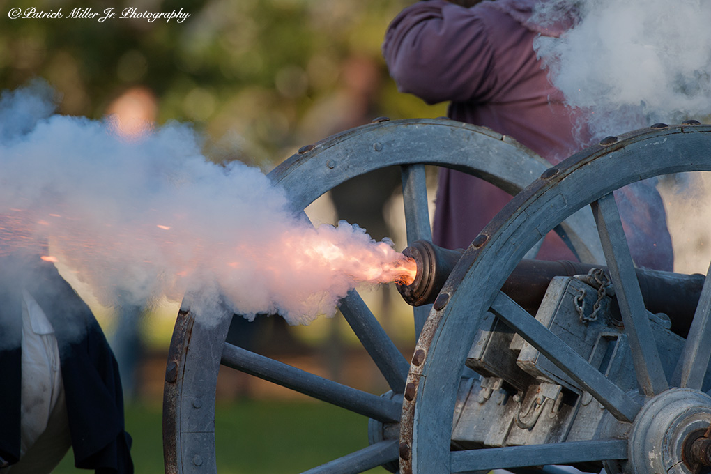 Colonial Williamsburg Soldiers Firing Canonn