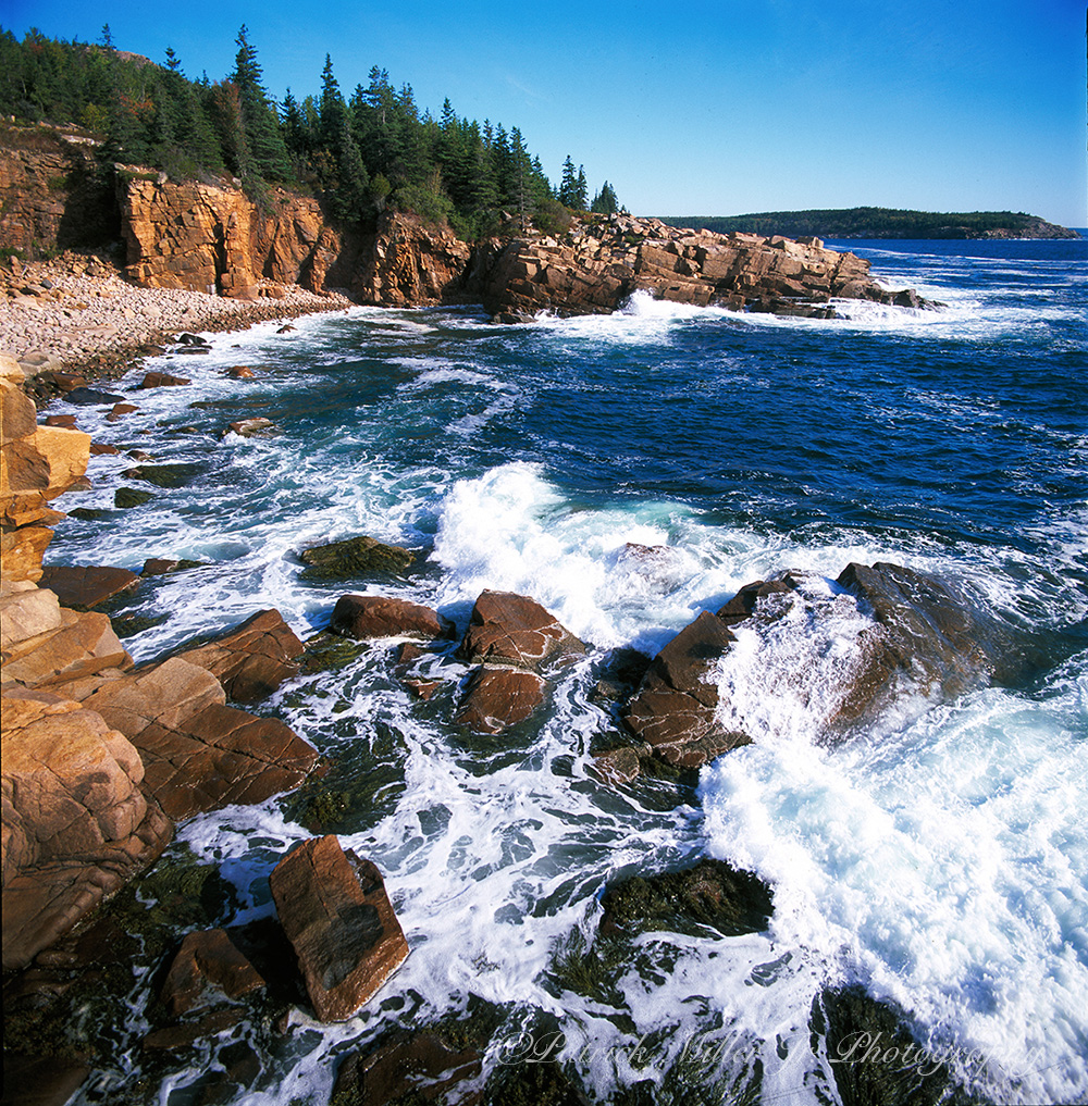 Acadia National Park rocky shoreline in Maine