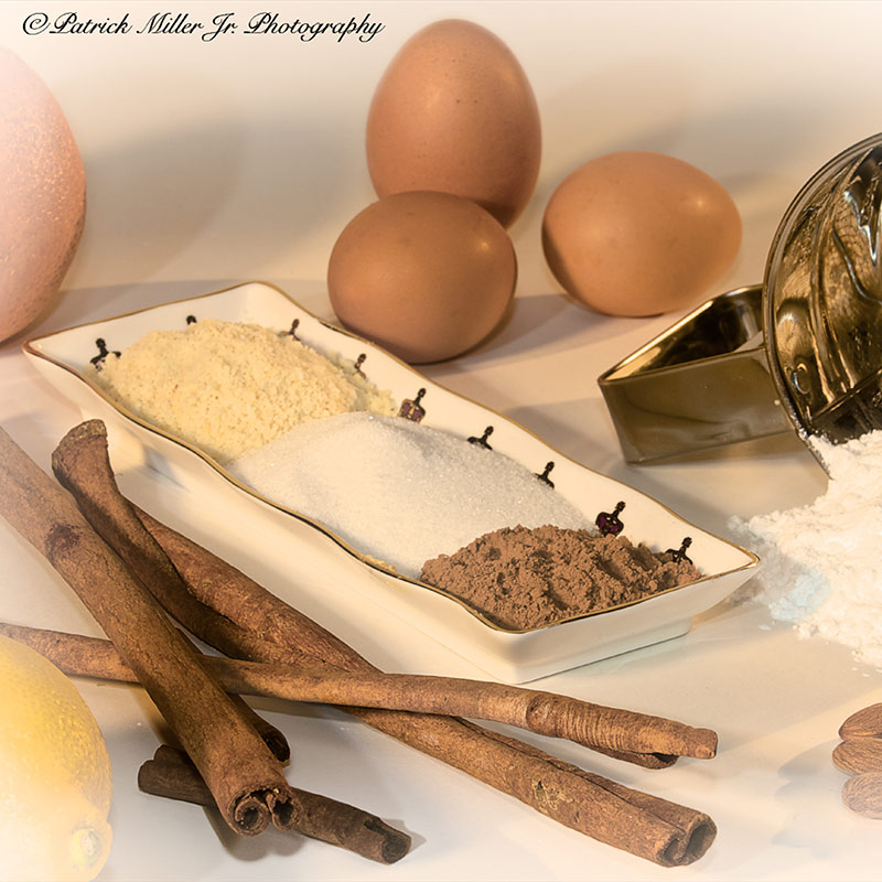 Product Photography Baking Ingredients Sepia VA