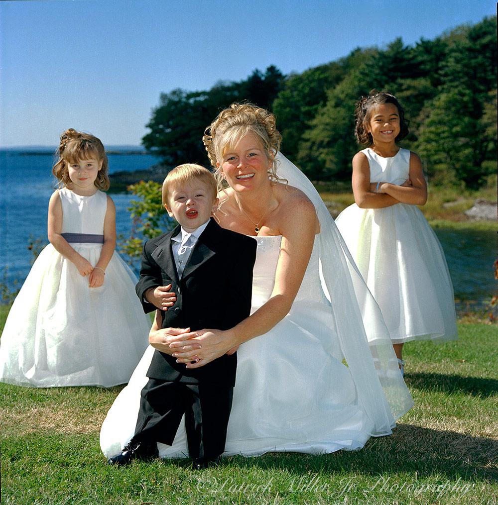Bride with Children, Maine