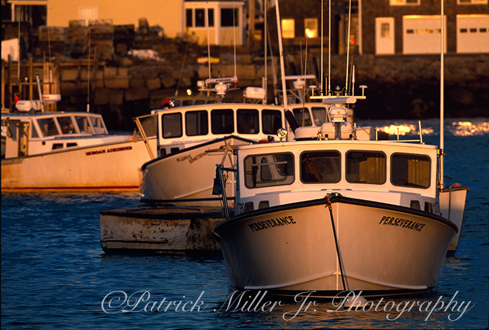Perseverance Lobster Boat at sunset on Vinalhaven Island Maine