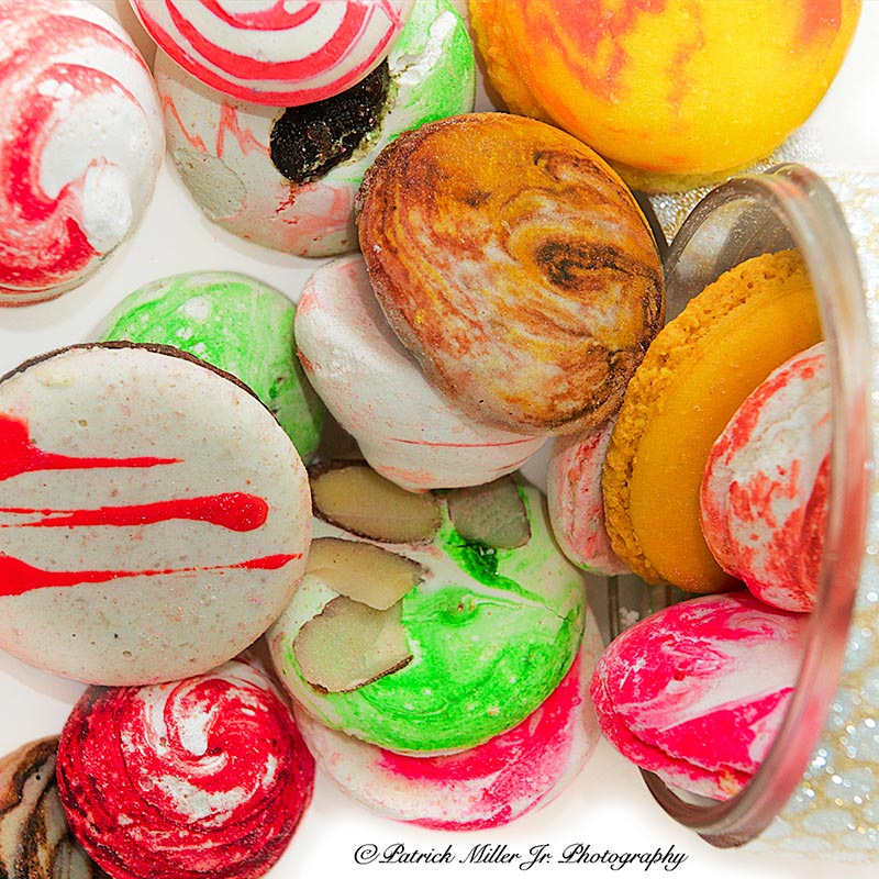 Product Photography Macaroons Spilling Out of Jar, VA