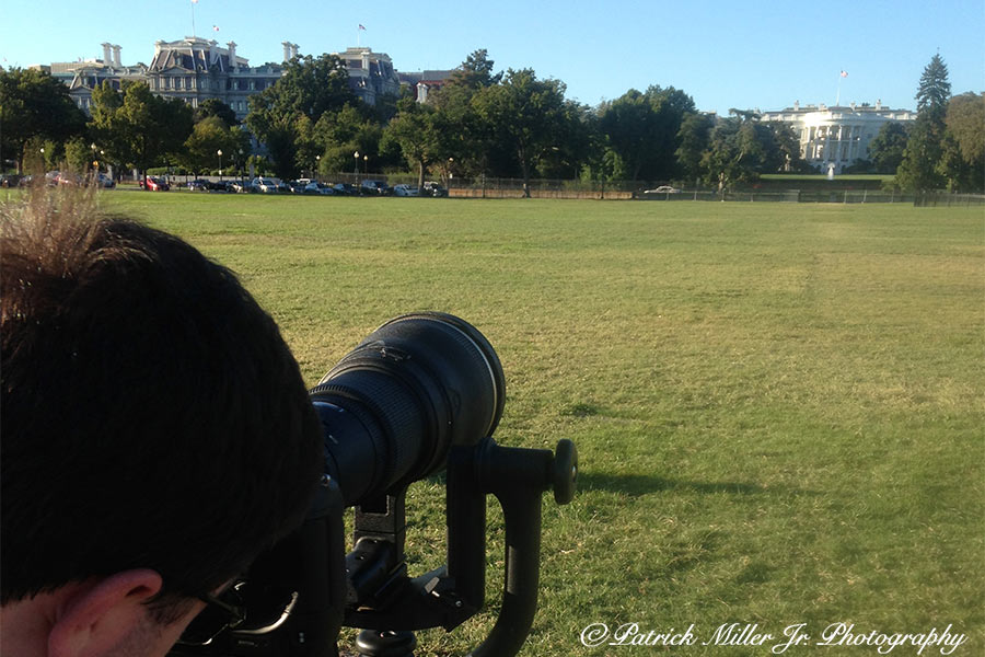 Photographing White House with Sports lens 600 mm DC