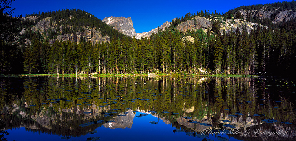 Sprague Lake reflections in Rocky Mountains National Park, CO