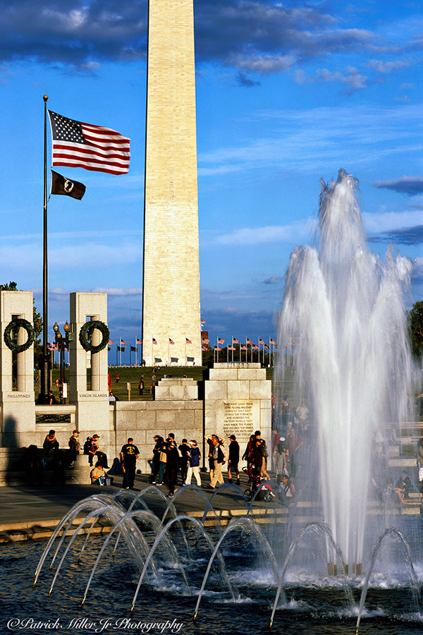 WWII Memorial Fountain Washington, DC